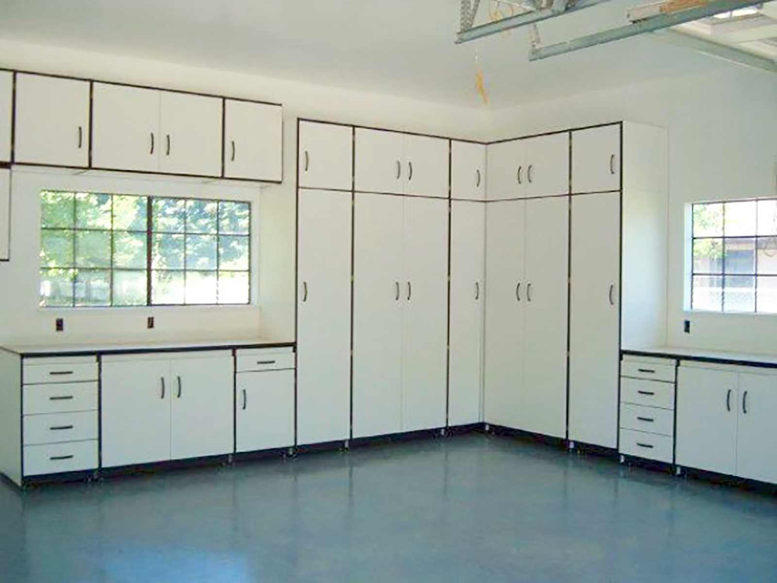 products cabinets garage cabinetry custom steel cabinet gl system countertops